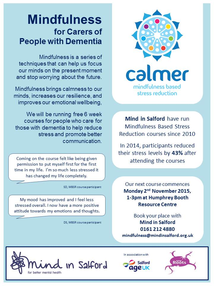 MBSR for Dementia Carers flyer November