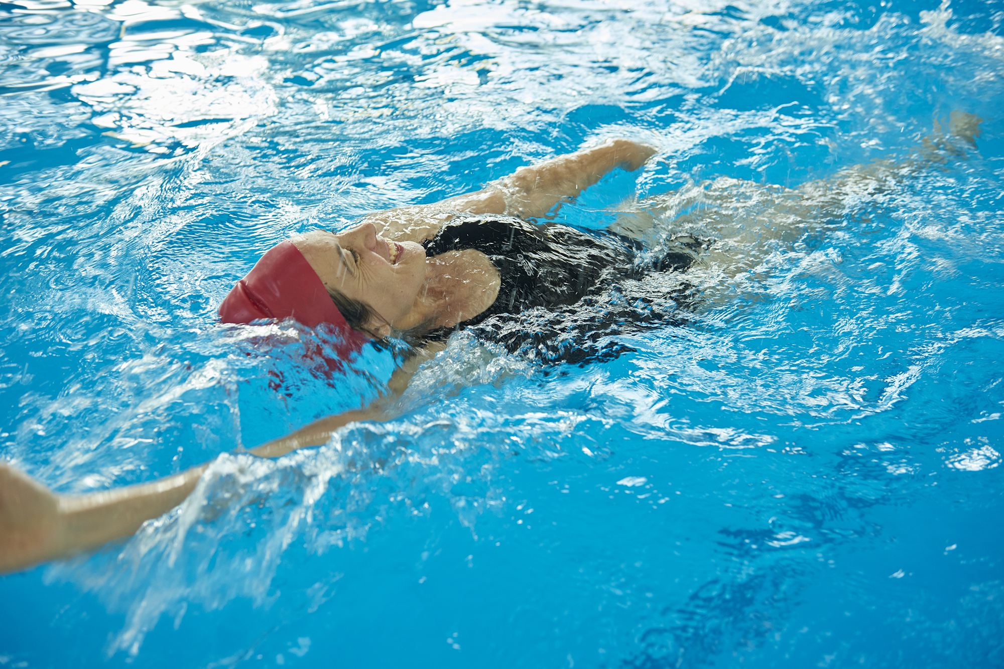 Picture of woman swimming